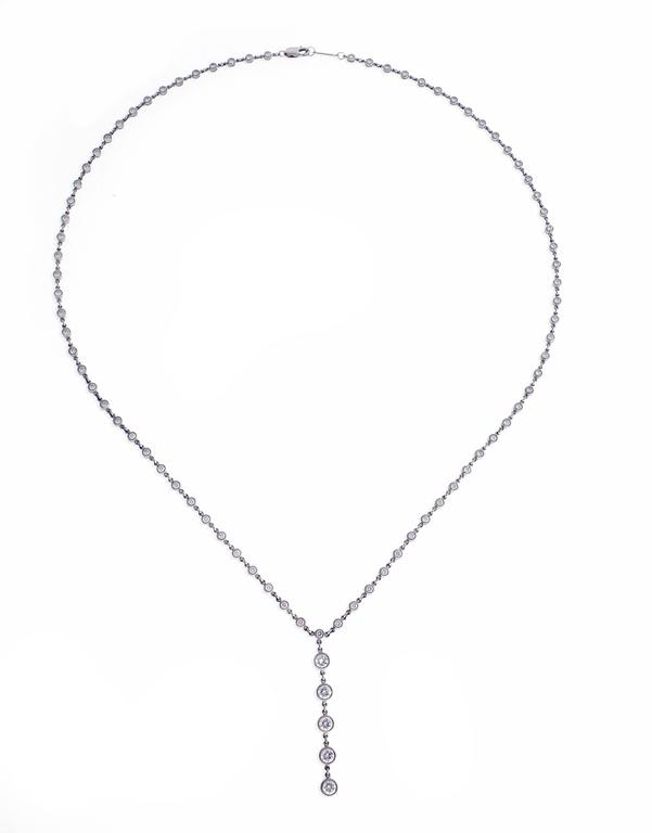 Tiffany Jazz has rhythm. The necklace is comprised of 2.08 carats of brilliant Tiffany diamonds. Set in platinum, 18