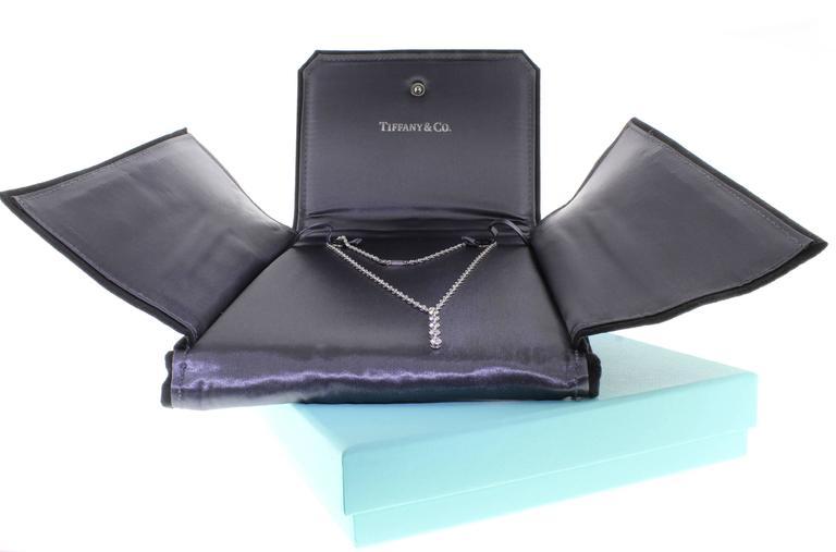 Tiffany & Co. Jazz T-Drop Diamond Platinum Necklace 3