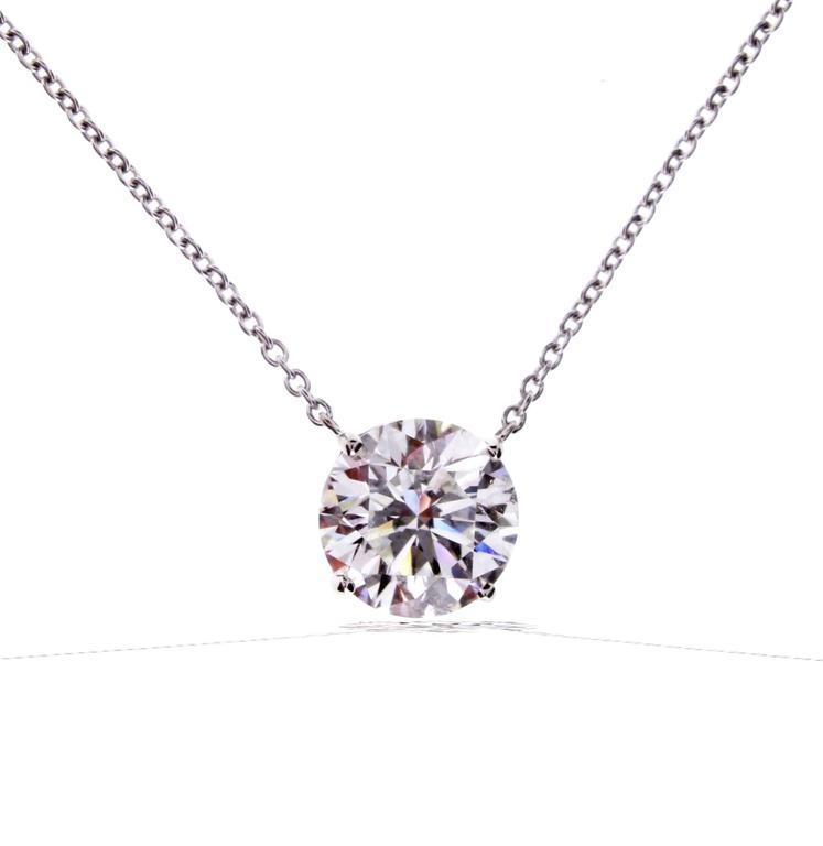 diamond gold solitaire oro pin necklace vrai yellow