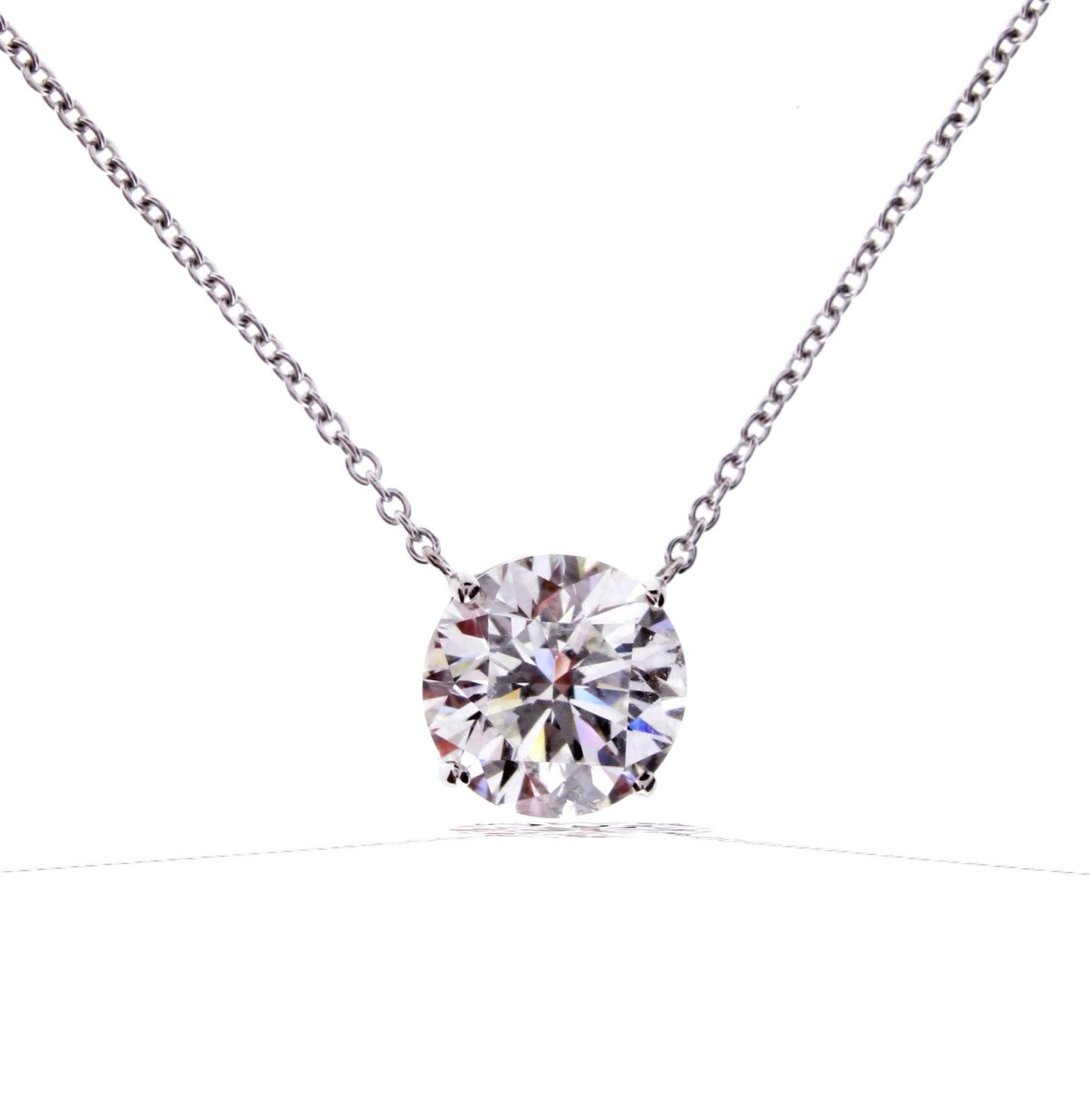 graff diamond solitaire necklace for sale at 1stdibs. Black Bedroom Furniture Sets. Home Design Ideas