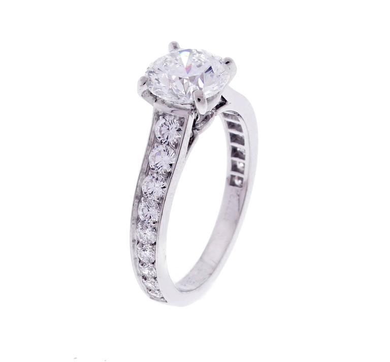Women's 1895 Cartier 1.50 Carat Diamond Platinum Solitaire Ring