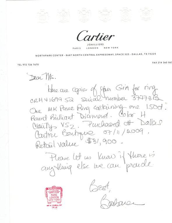 1895 Cartier 1.50 Carat Diamond Platinum Solitaire Ring 2