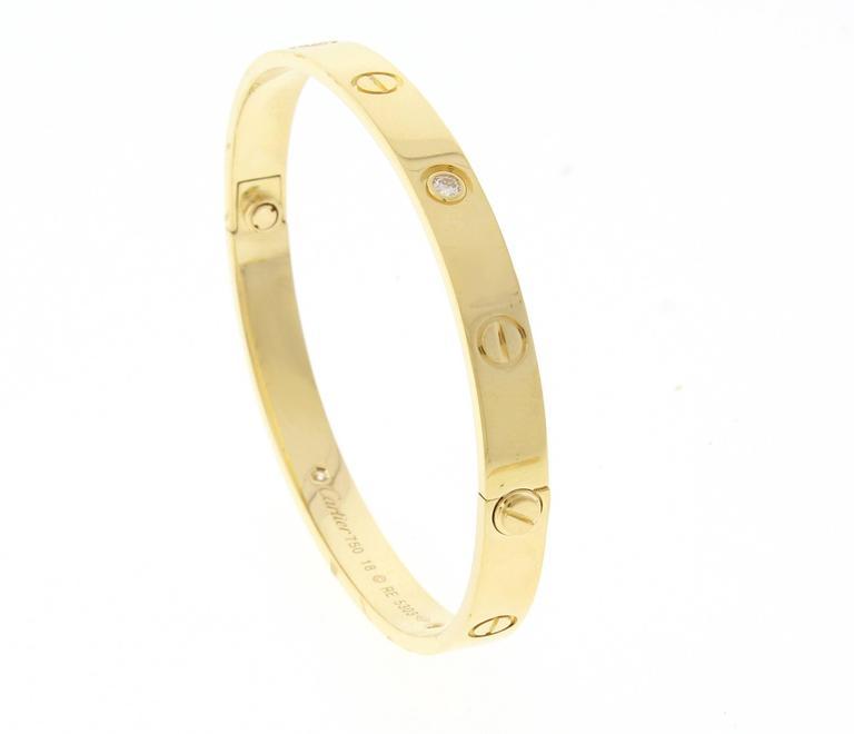 Cartier Four Diamond Gold Love Bracelet 3