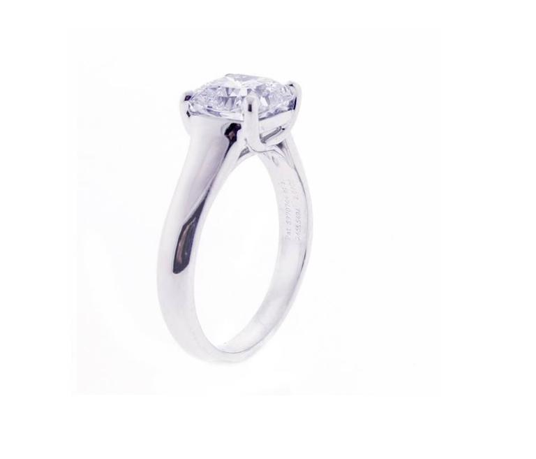 Women's Tiffany & Co. Lucida 2.07 Carat Diamond Platinum Ring For Sale