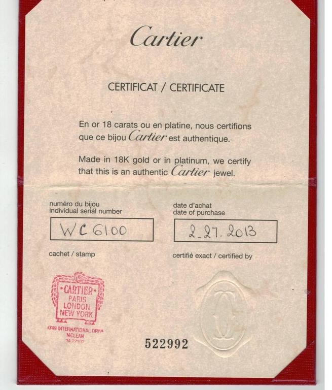 Women's or Men's Cartier Love Ring For Sale