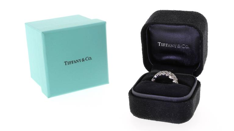New Tiffany And Co Jazz Three Row Diamond Band Ring At 1stdibs