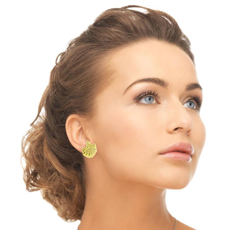Men S Elizabeth Gage Diamond Gold Earrings For