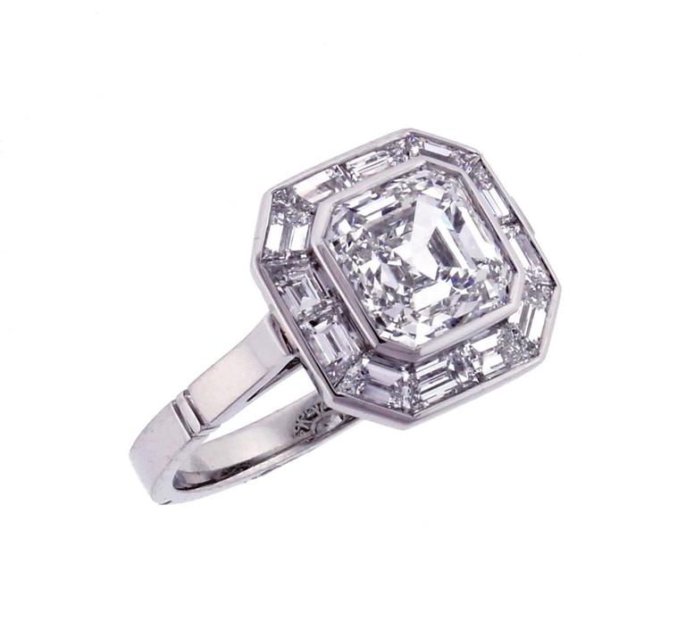 Pippa Middleton Style Asscher Cut Diamond Engagement Ring 2