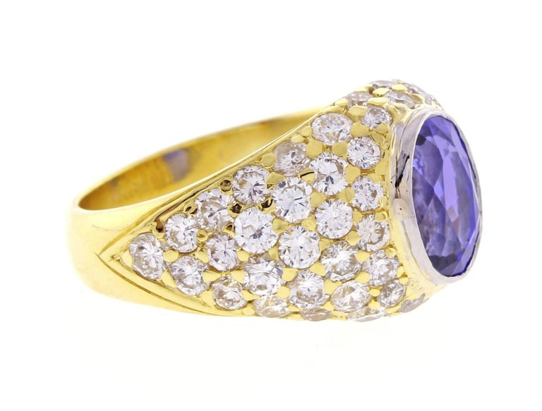 Tiffany & Co. Tanzanite and Diamond Ring In Excellent Condition For Sale In Bethesda, MD
