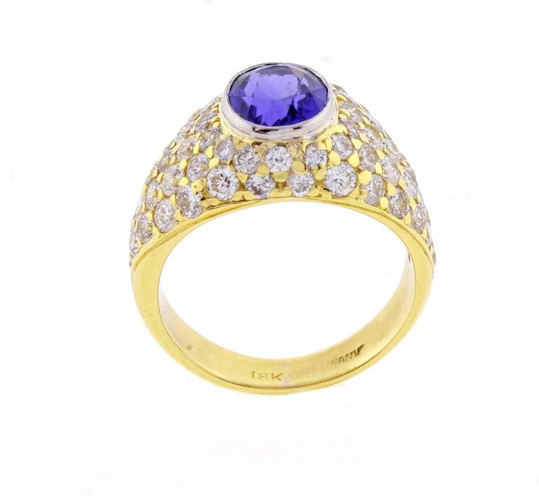 Tiffany & Co. Tanzanite and Diamond Ring For Sale 1