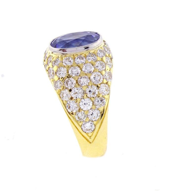 Tiffany & Co. Tanzanite and Diamond Ring For Sale 2