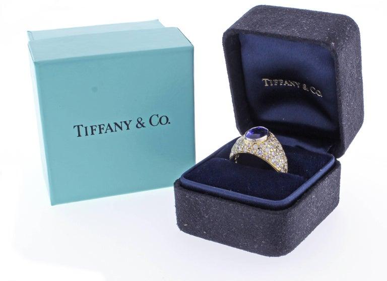 Tiffany & Co. Tanzanite and Diamond Ring For Sale 3
