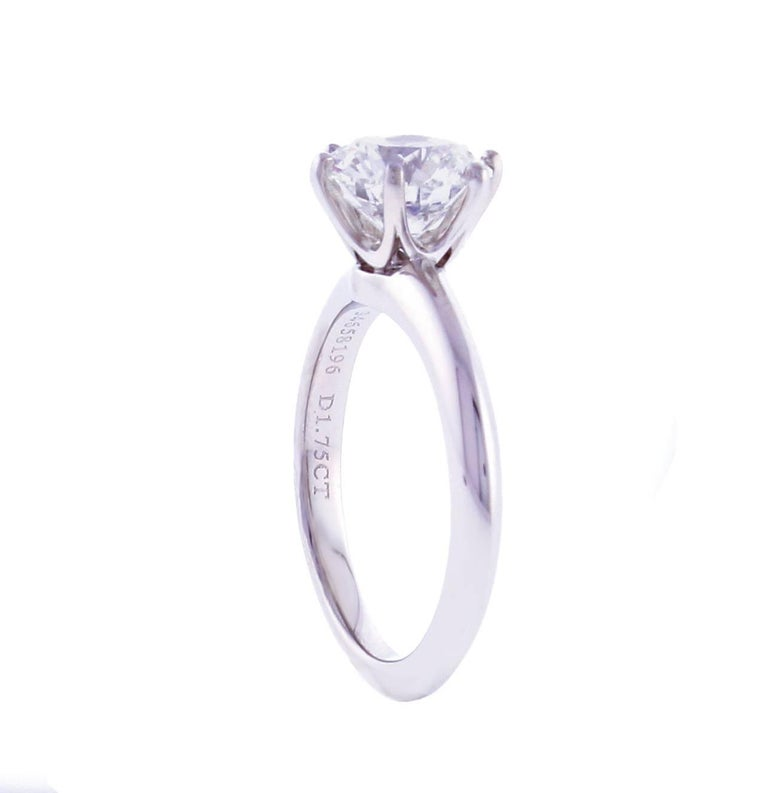 Tiffany And Co 1 75 Carat Diamond Engagement Ring At 1stdibs