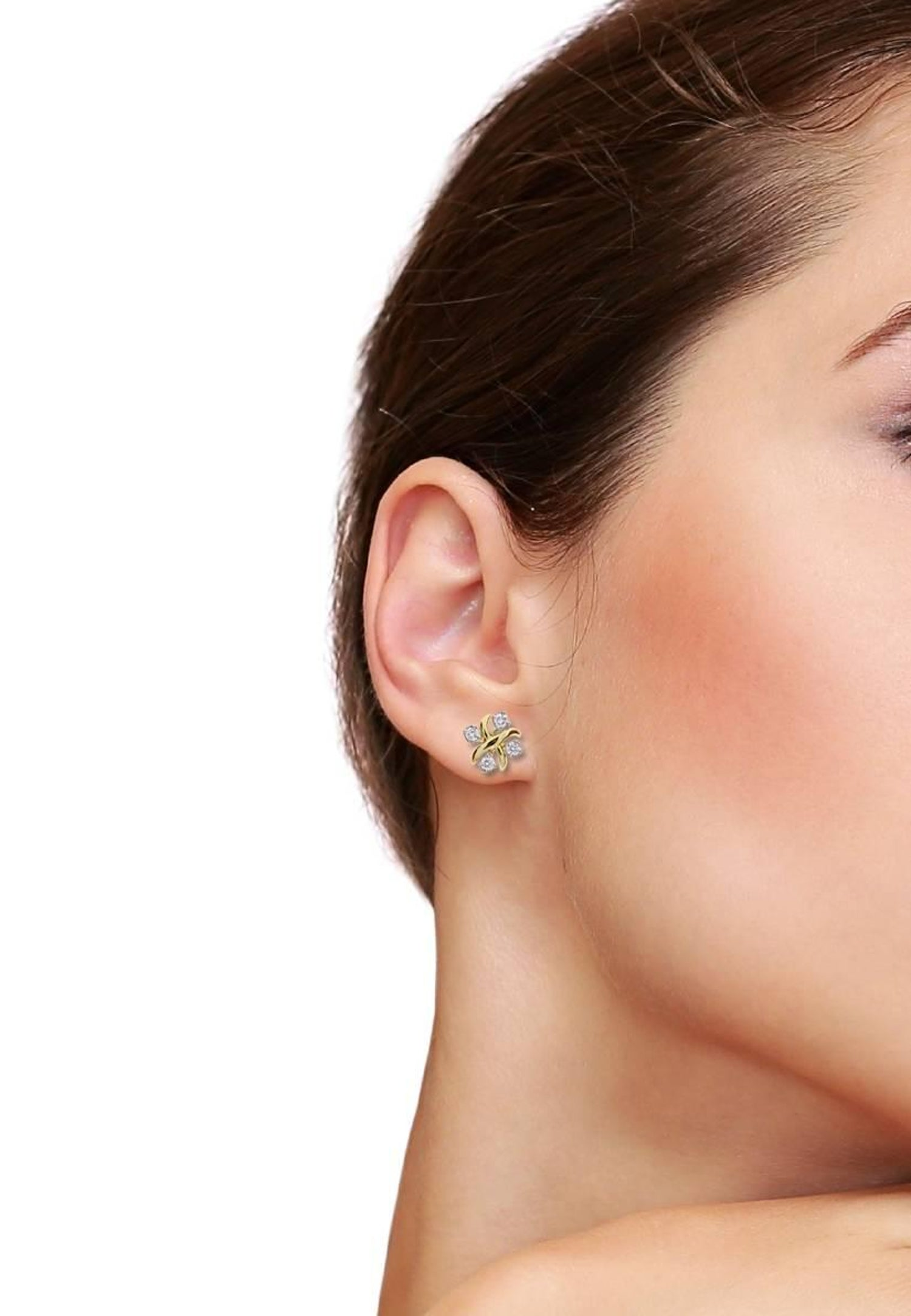 168ba3295 Jean Schlumberger Lynn Diamond Gold Platinum Earrings at 1stdibs