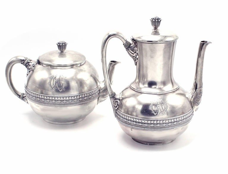 Tiffany & Co. Five-Piece Coffee and Tea Set In Excellent Condition For Sale In Bethesda, MD