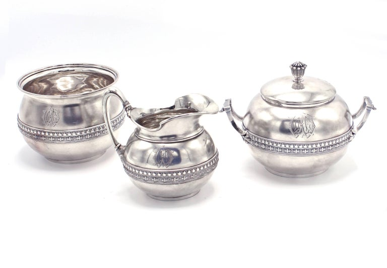Women's or Men's Tiffany & Co. Five-Piece Coffee and Tea Set For Sale