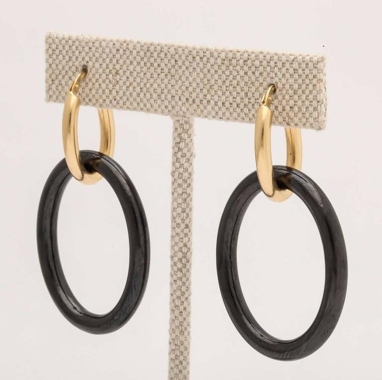 Faraone Mennella Black Ceramic Yellow Gold Mama Earrings 3