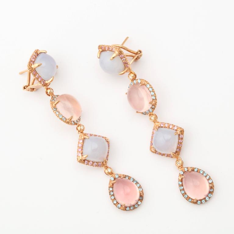 Modern Faraone Mennella Quisisana Rose Gold Earrings For Sale