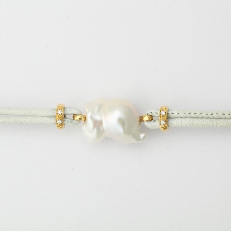 Faraone Mennella Freshwater Pearl Gold Bracelet 3