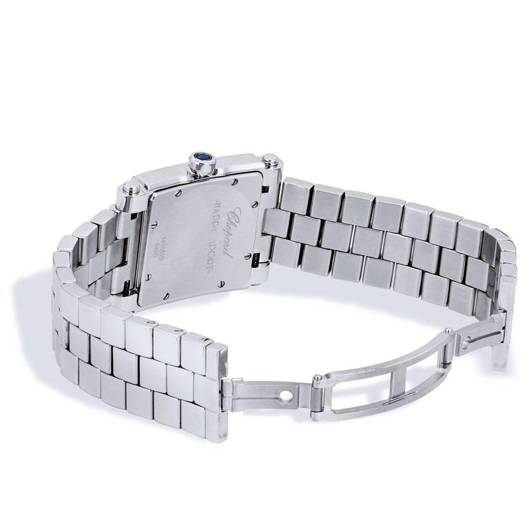 Chopard Ladies Stainless Steel Happy Sport Quartz Wristwatch In Excellent Condition For Sale In Miami, FL