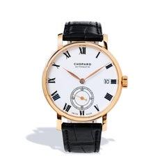 Men's Chopard 18 Karat Gold Classic White Dial Power Reserve Watch