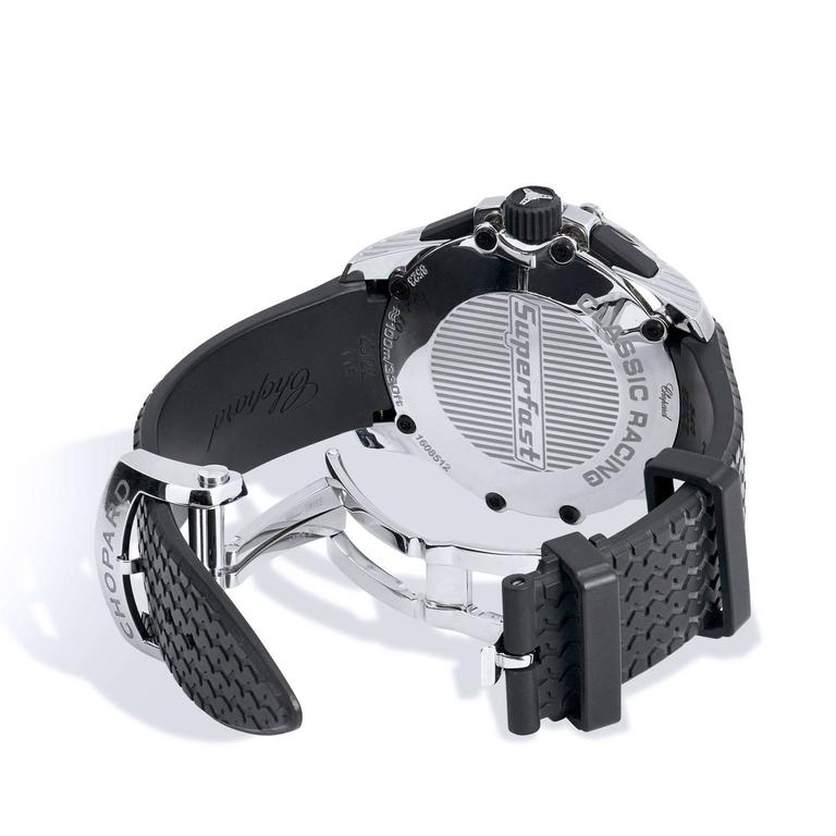Men's Chopard Stainless Steel Chronograph Wristwatch For Sale 1