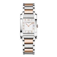 Baume & Mercier Ladies Rose Gold Stainless Steel Hampton Analog Wristwatch