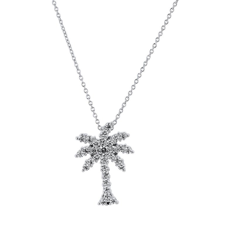 Roberto coin 054 carat diamond large palm tree pendant necklace at roberto coin 054 carat diamond large palm tree pendant necklace for sale aloadofball Image collections
