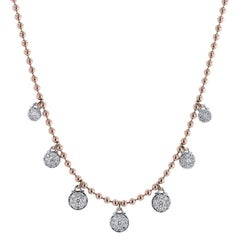 1.54 Carat Diamond Bezel-Set Swivel Drop Necklace