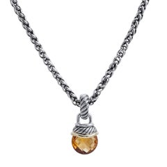 David Yurman Citrine Acorn Pendant Necklace