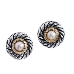 David Yurman Pearl Cookie Stud Earrings