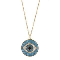 Diamond and Turquoise Evil Eye Pendant