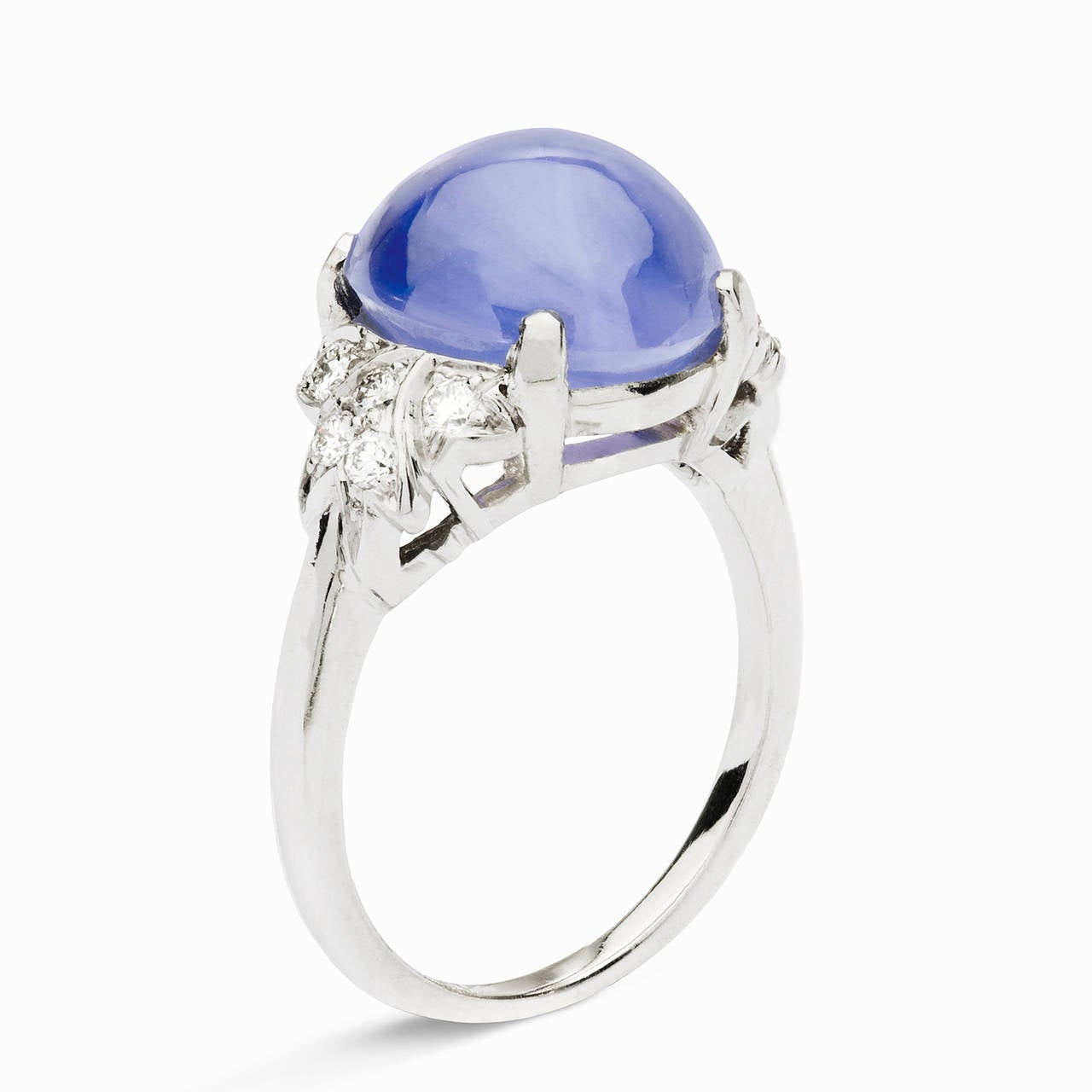 10 84 blue star sapphire and diamond ring at 1stdibs