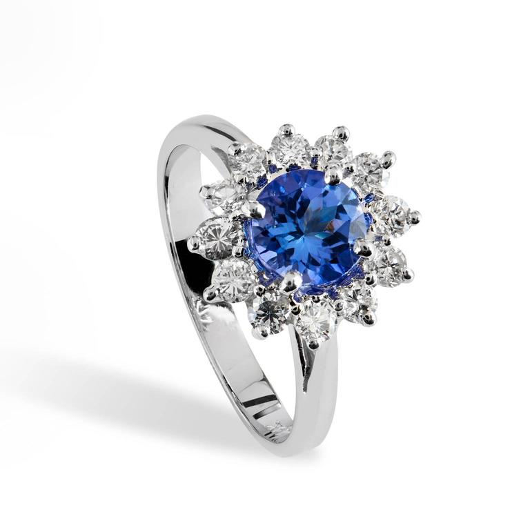 white gold tanzanite and ring for sale at 1stdibs