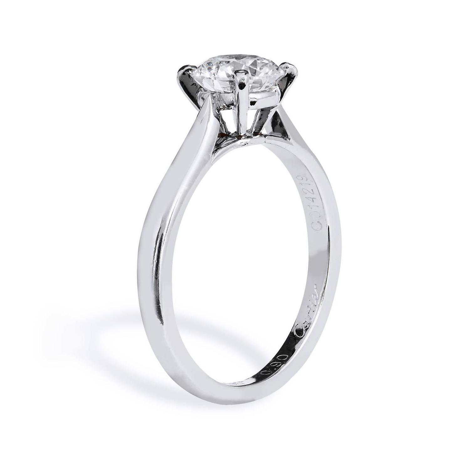 Cartier Diamond Engagement Ring At 1stdibs