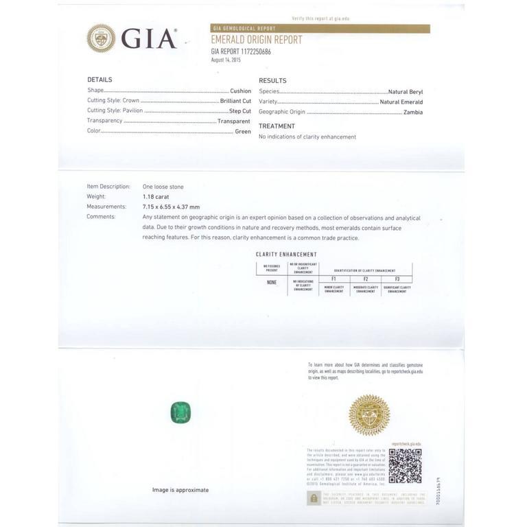 GIA Certified Emerald Yellow Gold Ring 6