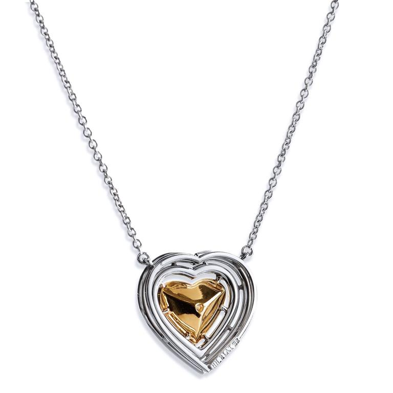 1.79 Carat Natural Fancy Yellow Heart Shaped Diamond 18 Karat White Gold Pendant In New Condition For Sale In Miami, FL