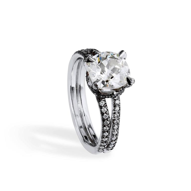 platinum 2 31ct ring with pave black