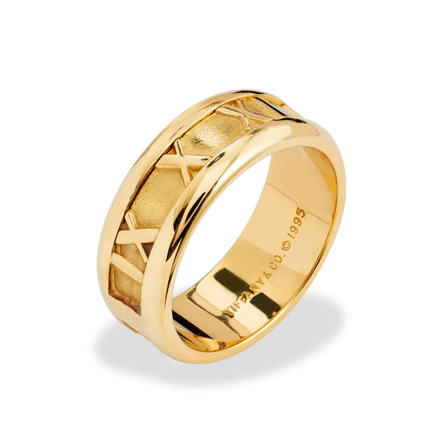 Tiffany And Co Gold Atlas Ring At 1stdibs