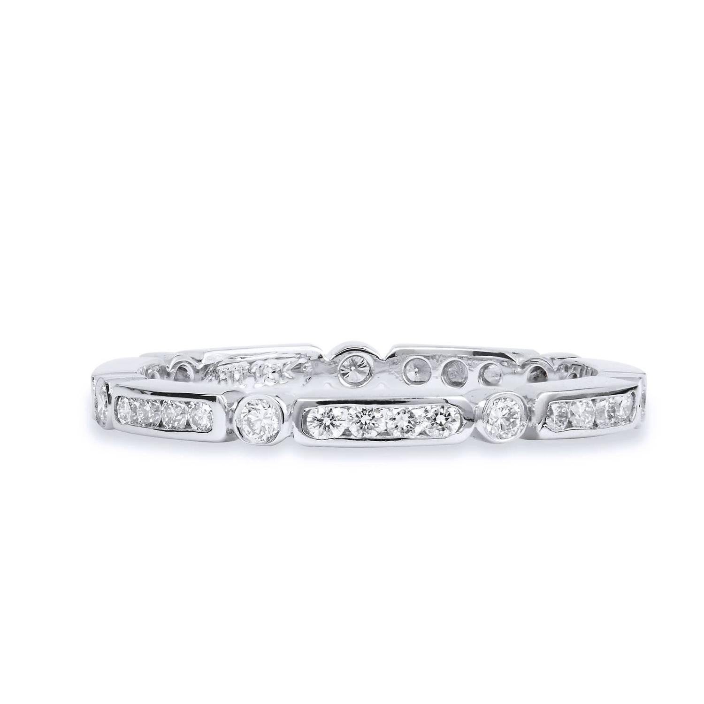 dainty palladium wedding band ring for sale at 1stdibs