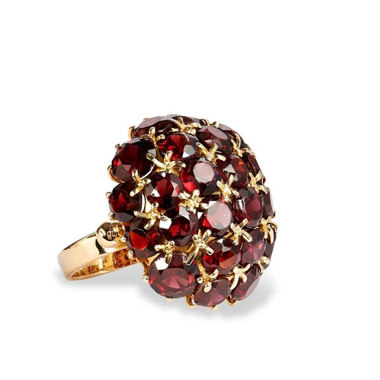 Almandine Garnet Gold Ring at 1stdibs