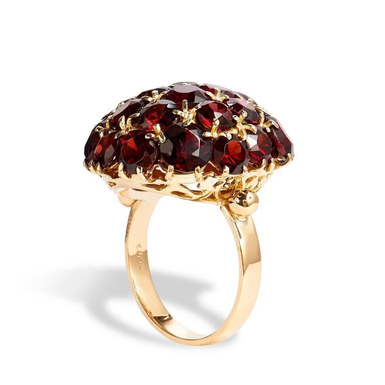 Almandine Garnet Gold Ring At 1stdibs