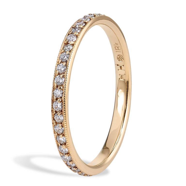 0 31 carat 18 karat yellow gold eternity band ring