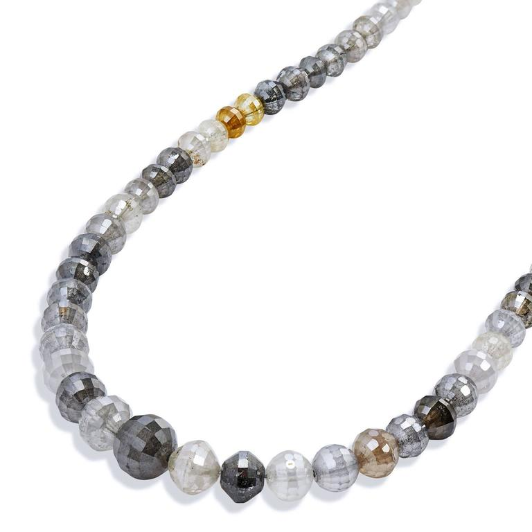 73.65 Carat Fancy Diamond Bead Necklace 2