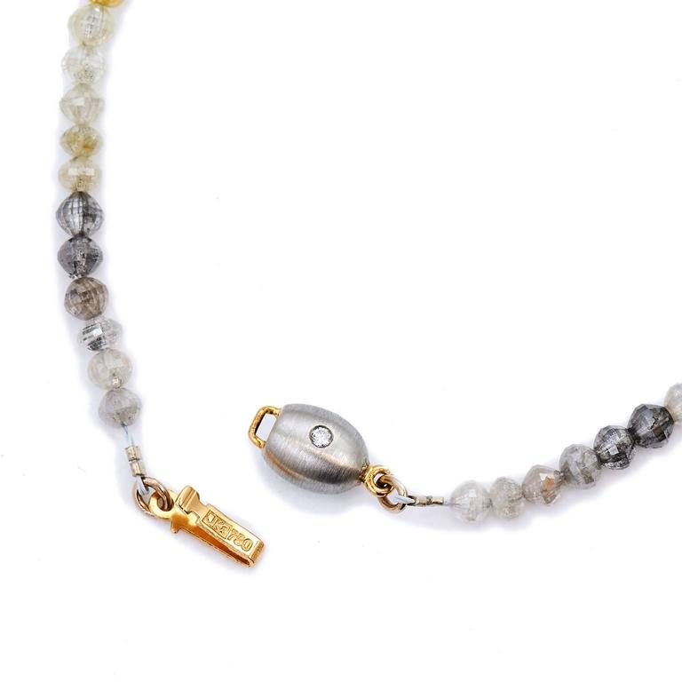 73.65 Carat Fancy Diamond Bead Necklace 3