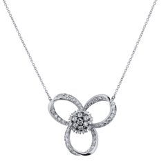 Retro 2.50 Carat Diamond Loop Pendant Necklace