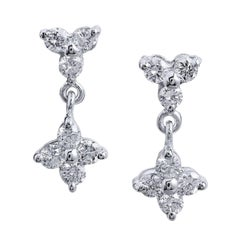 0.50 Carat Pave Diamond Drop Earrings