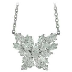 Harry Winston Diamond Platinum Pendant Necklet