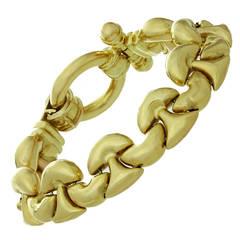 Gold Link Toggle Clasp Bracelet