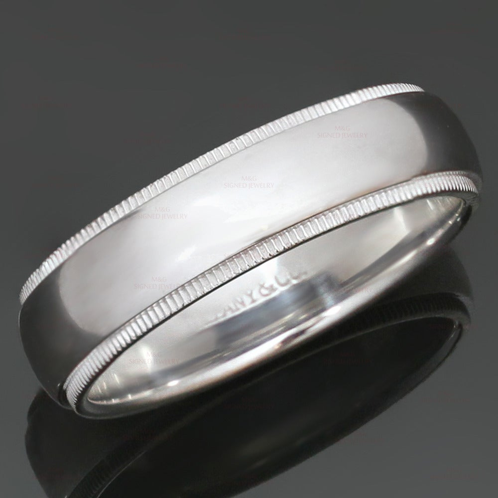 and co classic milgrain platinum wedding